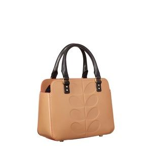 Orla Kiely Leather Embossed Stem Jeanette bag